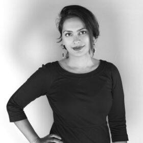 Portretfoto (zwart-wit) Michelle